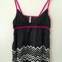 Missoni for Target Cami Sexy Lingerie Black Pink Zig Zag Spaghetti Strap Top M Photo