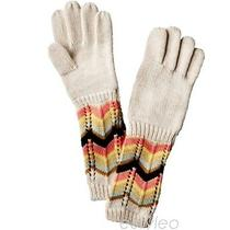 Missoni for Target Girls/children Long Knitted Gloves Colore Ivory/brown M/l Nwt Photo