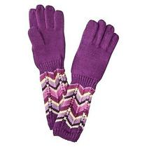 Missoni for Target Girls Gloves Xs/s Purple Passion Zig Zag Winter Gloves Wool Photo