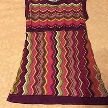 Missoni for Target Girls Size M Stripe Knit Skirt Black Green White Purples  Photo