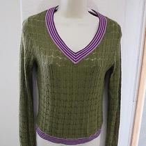 Missoni for Target Green v Neck Knit Sweater Purple Womens M Rayon 191 Photo