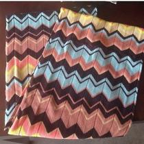 Missoni for Target Infinity Scarf Peach Blue Tan Wool Blend Chevron Nwot Photo