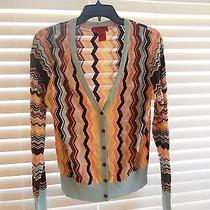 Missoni for Target Long Sleeve Chevron Print Button Down Cardigan Size M Photo