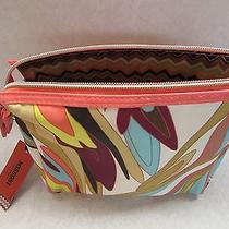 Missoni for Target Multi-Color Floral Zig Zag Purse Kit Cosmetics Bag Nwt Photo