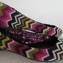 Missoni for Target Multi-Colored Zig Zag Chevron Ballet Flats 8 Euc Photo