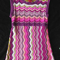 Missoni for Target Purple Chevron Striped Dress Girls M Purple Pink Cotton Blend Photo