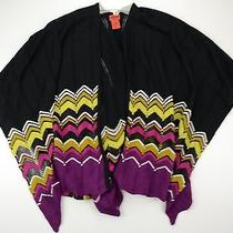 Missoni for Target Ruana Chevron Purple/multi Metallic Thread Open Poncho Shawl  Photo
