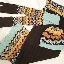Missoni for Target Sold Out Beanie Zig Zag Hat Cap  Long Gloves  Scarf Set Photo