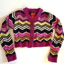 Missoni for Target Sweater Chevron Zig Zag Cardigan Purple Black Girls Size Xs Photo