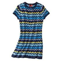 Missoni for Target Sweater Dress Blue Zig Zag Size Large New Photo