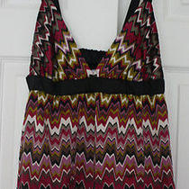 Missoni for Target Sz M Multi-Color Tank Cami Empire Waist Baby Doll Zig Zag Photo