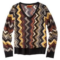 Missoni for Target v Neck Chiffon Switer  Zigzag Multi Color Size Pl New Photo