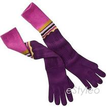 Missoni for Target Women Pointelle Long Knitted Gloves Passione Purple Nwt Photo