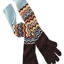 Missoni for Target Womens Pointelle Long Knitted Gloves Brown Colore Zigzag Nwt Photo