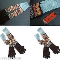 Missoni for Target Wool Knit Long Pointelle Gloves Multi Color Zig Zag Photo