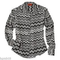 Missoni for Target Woven Shirt Black and White Floral Blue Colore Xs S M L Xl  Photo