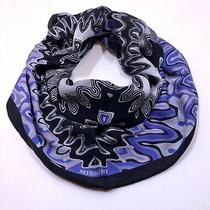 Missoni Foulard Multicolor Made in Italy Silk Scarf Photo