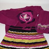 Missoni Girl's Sweater & Stripe Skirt Set W/matching Leggings Wow 18-24 Month Photo