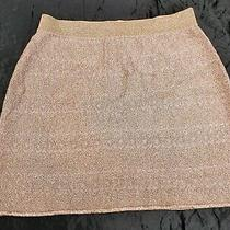 Missoni Gold Lillac Beige  Metallic Jersey Mini Skirt Size 44 Uk 12 Photo