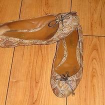 Missoni Gold Metallic Leather Knit Detail Bow Tie Ballet Flats Shoes Sz 38 Vguc Photo