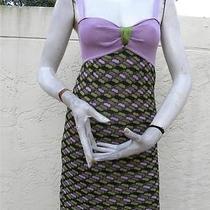 Missoni Gorgeous Zig Zag Colorful Fun Summer Dress Sz 38 Photo
