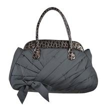 Missoni Gray Lacquer Trimmed Bow Decorated Women's Shoulder Bag Photo