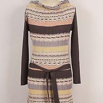 Missoni Gray Yellow Beige Off-White Crochet Knit W Belt Tunic Shift Dress 40 4/6 Photo