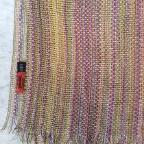Missoni Greenpurpleyellow Viscose Super Large Scarf-Gorgeous Colour Palette Photo