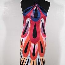 Missoni Italian Multi Color Jersey Halter Neck Dress Size 44 It Tv Photo