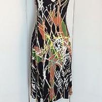Missoni Italy Medium Knit Jersey Abstract Print Halter Shift Dress Photo