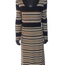 Missoni Knit Brown Long Sleeve Dress Euc Photo