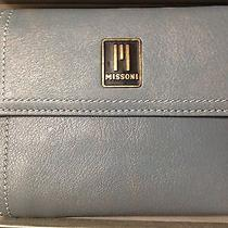 Missoni Leather Clutch Wallet Womens Teal Photo