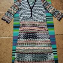 Missoni Lightweight Space Dye Knit Dress 48 L Deep Plunge Henley Photo