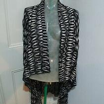 Missoni Long Cardigan Sz 38 Will Fit Uk 6-8 Black and Cream & Metallic  Photo