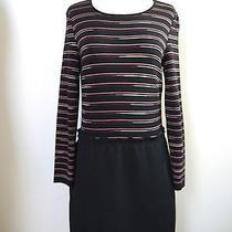 Missoni M Striped Knit Black Bottom Dress Italian 44 Us 8 Worn Once Photo