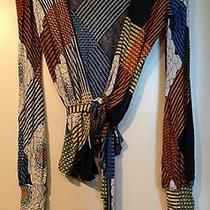 Missoni Made in Italy Floral Geometric Stripe Wrap Cardigan Sweater Top Us 8 Photo