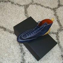 Missoni Men's Boots Dark Blue/yellow Multicolor Size 11 Us/44 Eu Photo