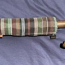 Missoni Minimatic Men's Small Striped Umbrella Orange Label Wood Curved Handle   Photo