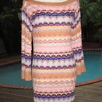 Missoni Multi-Color Signature Chevron Weave Dress Brilliant Colors It36 S 4   Photo