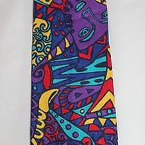 Missoni Neiman Marcus Crazy Art-to-Wear Faces Pop Art Colorful Funky Silk Tie Photo