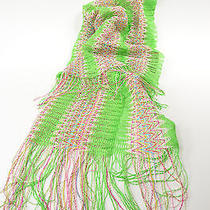 Missoni Neon Green Scarf With Fringe Photo