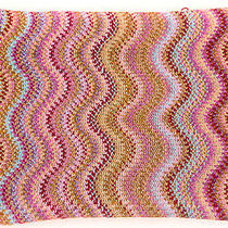 Missoni New 225 Metallic Thread Zig-Zag Scarf Photo