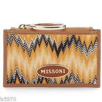 Missoni Orange Flame Stitch Key Pouch - Nwt Photo