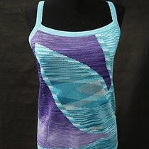 Missoni Orange Label Aqua Multi Color Sheer Striped Tank Top Shirt 40 Photo