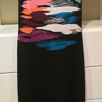 Missoni Orange Label Maxi Dress Black/multi Color Zig Zag Pattern Sz 40 Photo