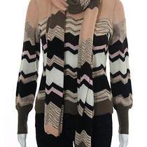 Missoni Orange Label Mulitcolor Wool Turtleneck Sweater Scarf Set Sz It 40 Photo