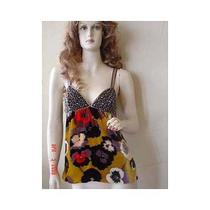 Missoni Orange Lbll Jewel Floral Top 38/4 Nwt 1750 Photo