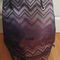 Missoni Perfume Backpack Luggage Bag Gym Weekender Traveler Chevron New Photo