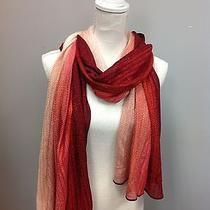 Missoni Pink and Red Ombre Knit Scarf Photo