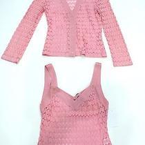 Missoni Pink Lightweight Knit/crochet Sweater Set Sz 38 or Sz 2 1700 Euc  Photo